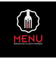 Restaurant menu design template vector image vector image