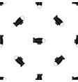 retro airship pattern seamless black vector image vector image