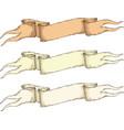 retro beige blank heraldic ribbon vector image