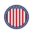 round flag of united states of america vector image