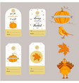 set holiday thanksgiving backgrounds badges vector image vector image
