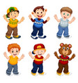 set male cartoon character vector image vector image