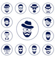 set of different men hipster vector image vector image