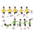 Soccer players football sport athletes in actions vector image vector image