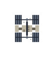 space station colored icon element of space vector image vector image