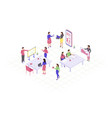 teamwork isometric color vector image