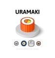 Uramaki icon in different style vector image
