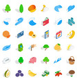 viable icons set isometric style vector image vector image