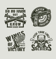 vintage monochrome military labels vector image vector image