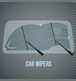 windshield wipers realistic composition vector image vector image