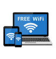 wireless technology devices and wifi internet vector image