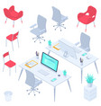 workspaces and workplaces vector image vector image
