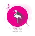 Flamingo Icon with long shadow vector image