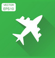 airplane icon business concept airport plane vector image