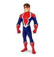 friendly superhero standing vector image