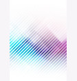 abstract geometric shape on violet blue background vector image vector image
