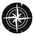 ancient compass icon simple vector image