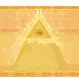 Ancient Pyramid Eye Design vector image