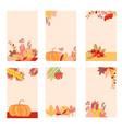 autumn set of postcards vector image