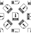 avc file document icon download avc button icon vector image vector image
