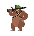 bear soldiers grizzly military wild animal with vector image