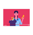 beauty fashion vlog outfit apparel blogger vector image
