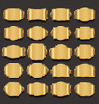 blank golden frame and label collection vector image vector image