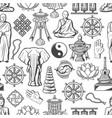 buddhism religion zen meditation seamless pattern vector image vector image