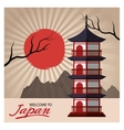 Building and architecture of Japan design vector image vector image