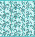 candy cane seamless pattern christmas candies on vector image vector image