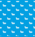 carnival mask pattern seamless blue vector image vector image