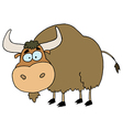 Cartoon Brown Yak vector image