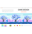 cartoon game design web page template vector image vector image