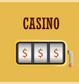 casino machine slot concept background realistic vector image