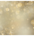christmas and new year shimmering blur golden vector image vector image