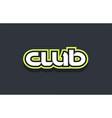club word text logo design green blue white vector image vector image