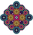 colored mandala floral decorative element vector image vector image