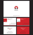 corporate logo identity and business card with vector image vector image