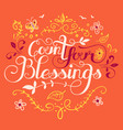 count your blessings vector image