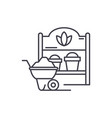 country house line icon concept country house vector image