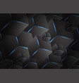 dark background overlap layer with hexagonal 3d vector image vector image