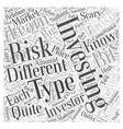 Different Types of Investments Word Cloud Concept vector image vector image