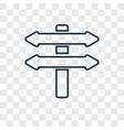 directions concept linear icon isolated on vector image
