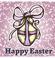 easter retro hand drawn design card vector image