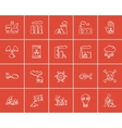 Ecology sketch icon set vector image vector image