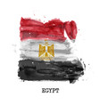 egypt flag watercolor painting design country vector image vector image