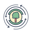 emblem of tree symbol to ecology care vector image vector image