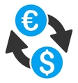 Euro Money Exchange Flat Icon vector image vector image