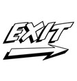 exit sign with arrow icon vector image