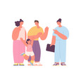 family doctor visit cute smiling people happy vector image vector image